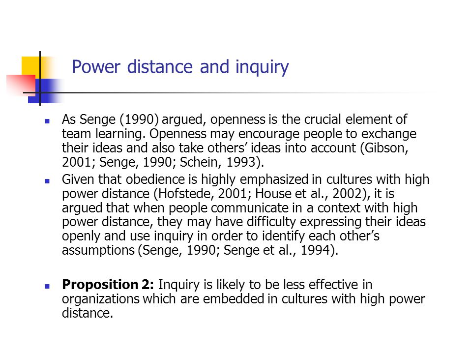 Power distance and inquiry