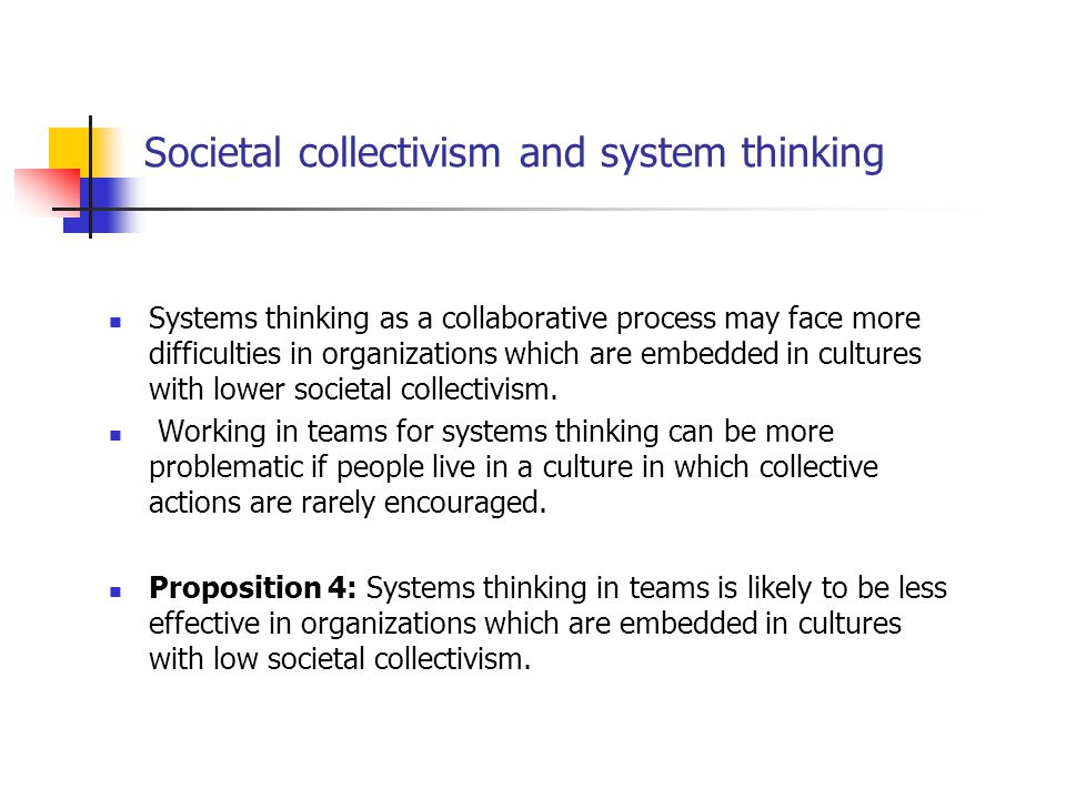 Societal collectivism and system thinking
