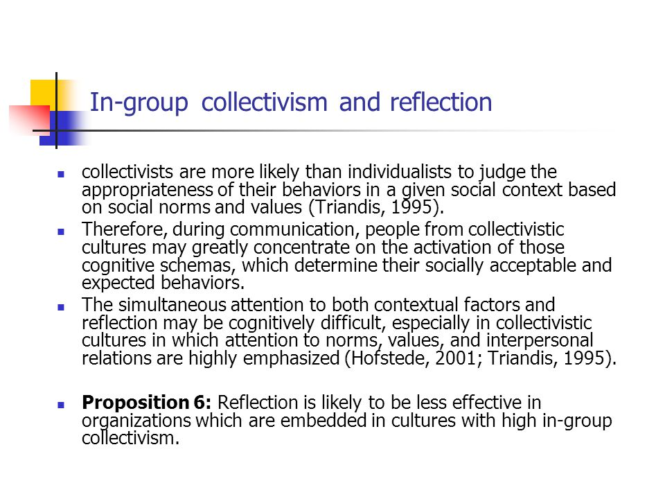 In-group collectivism and reflection