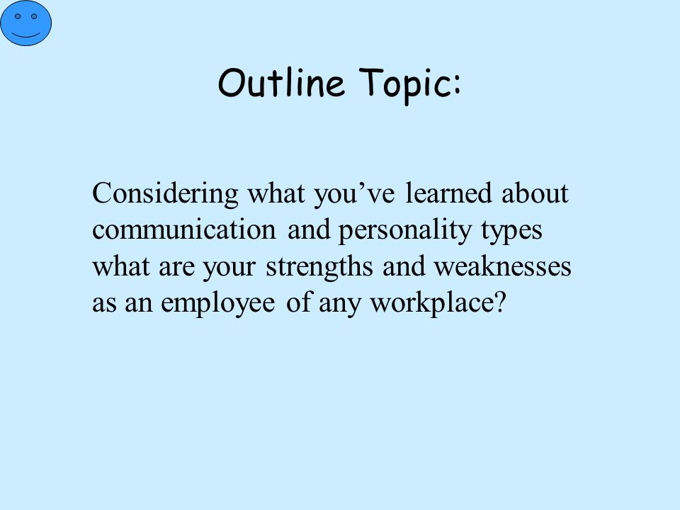 Outline Topic: