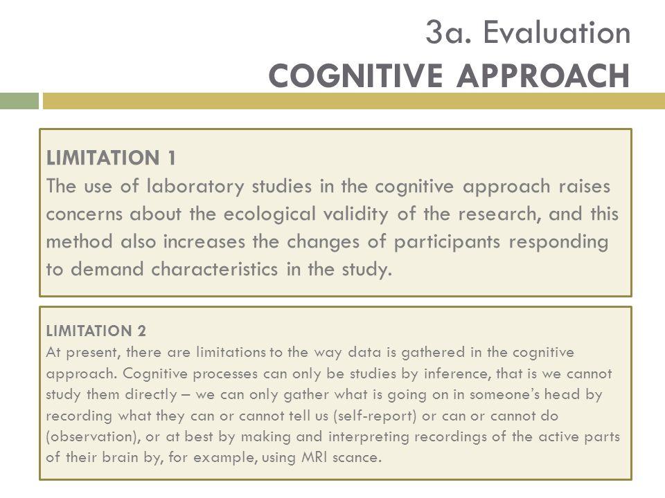 3a. Evaluation COGNITIVE APPROACH