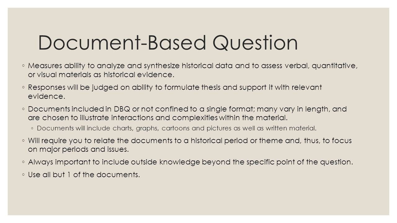 Document-Based Question