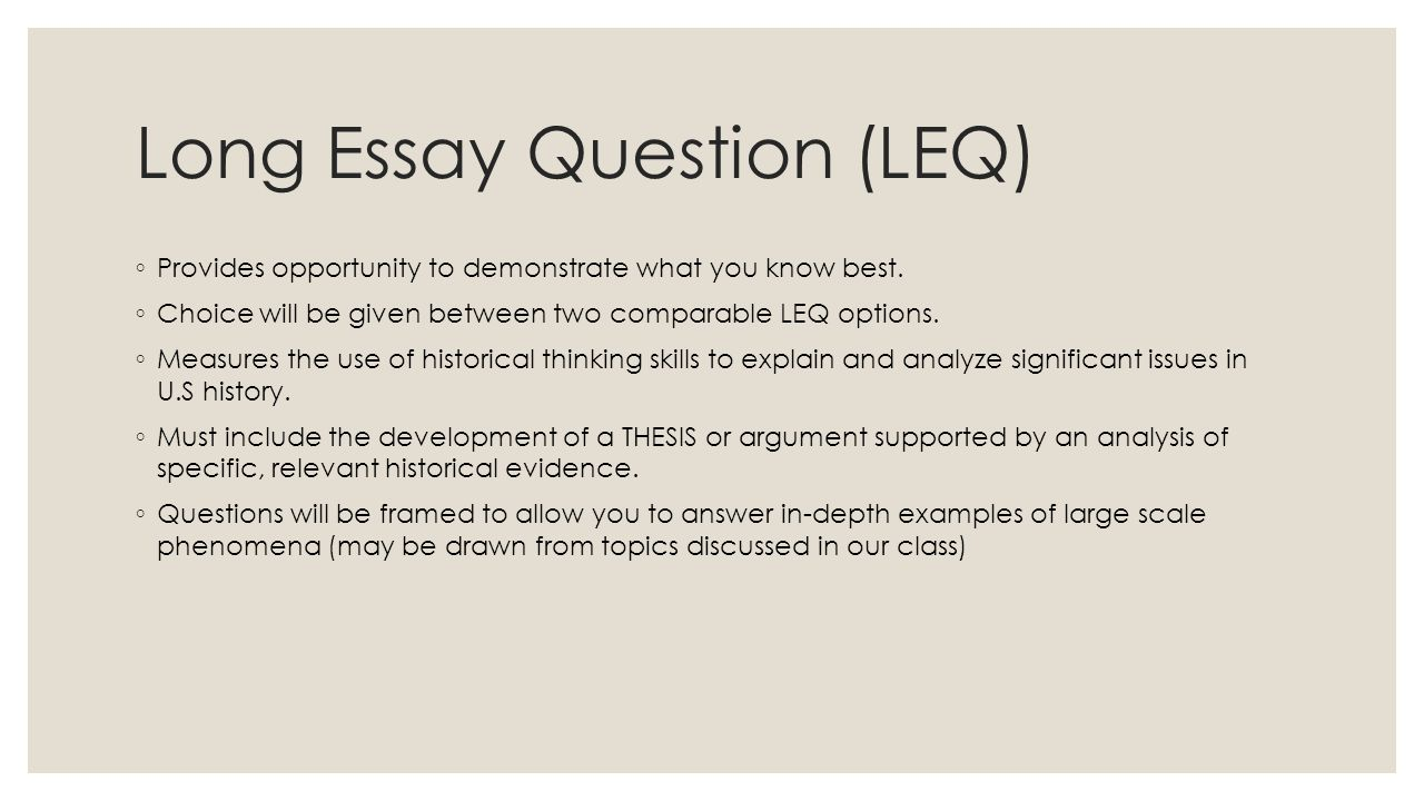 history exam essay questions This handout is designed to help you prepare for the ib history of the americas paper 3 exam the structure of the ib history exam answer two essay questions.