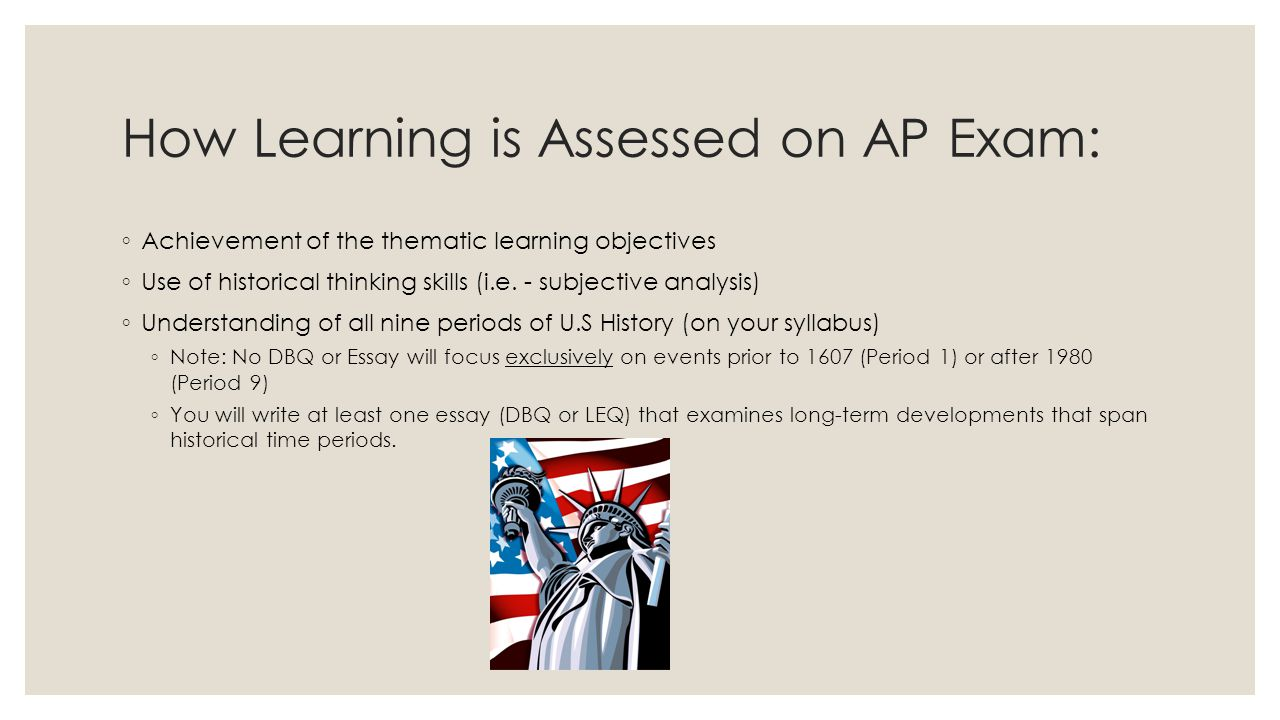How Learning is Assessed on AP Exam: