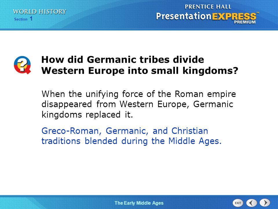 How did Germanic tribes divide Western Europe into small kingdoms