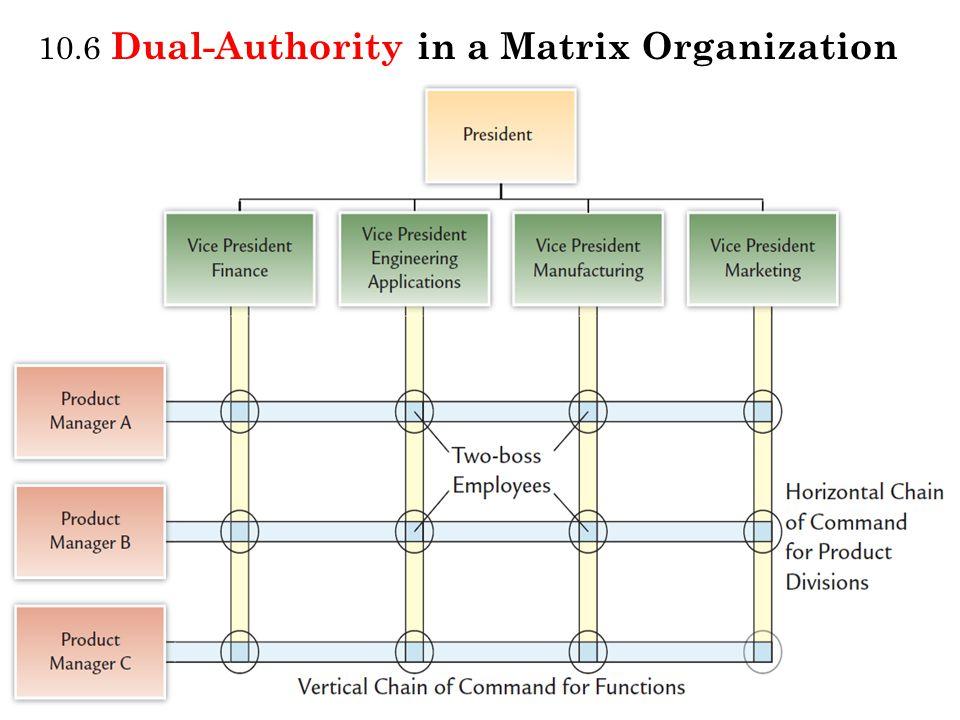 10.6 Dual-Authority in a Matrix Organization