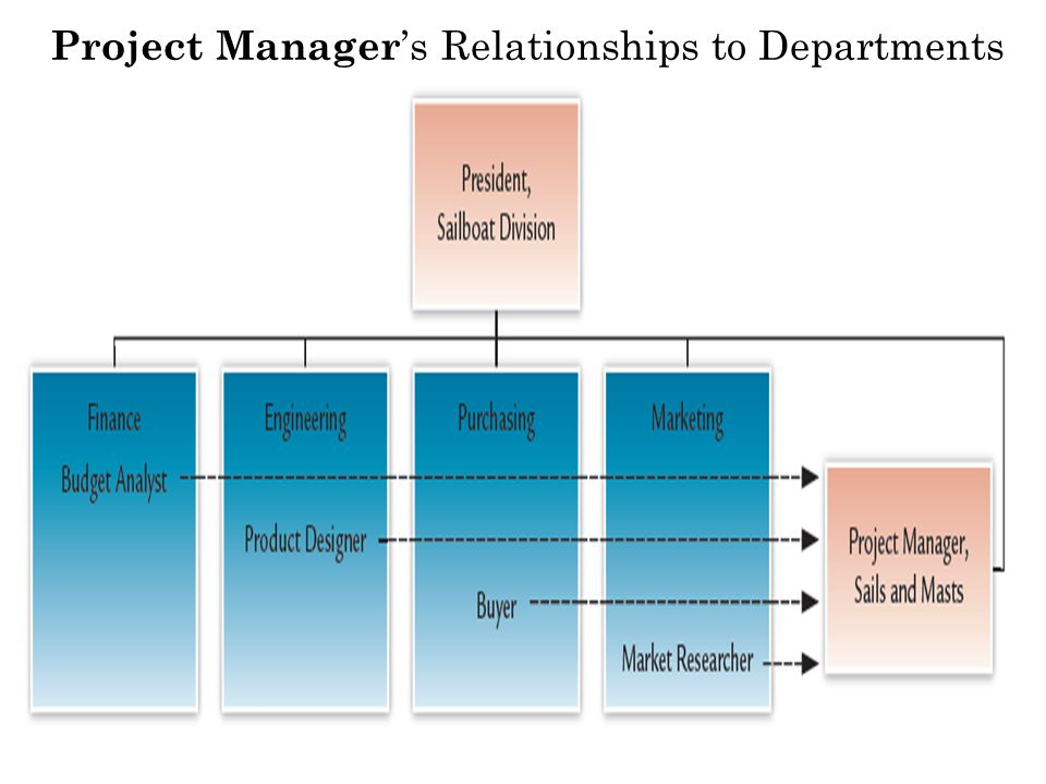 Project Manager's Relationships to Departments