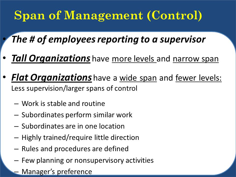 Span of Management (Control)