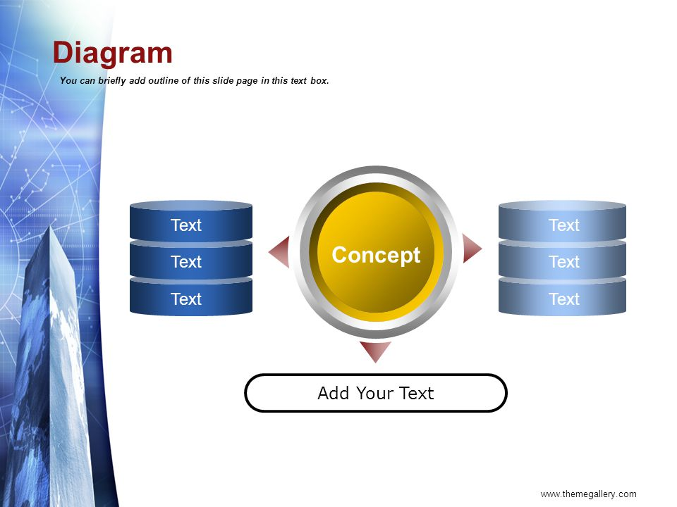 Diagram Concept Text Add Your Text