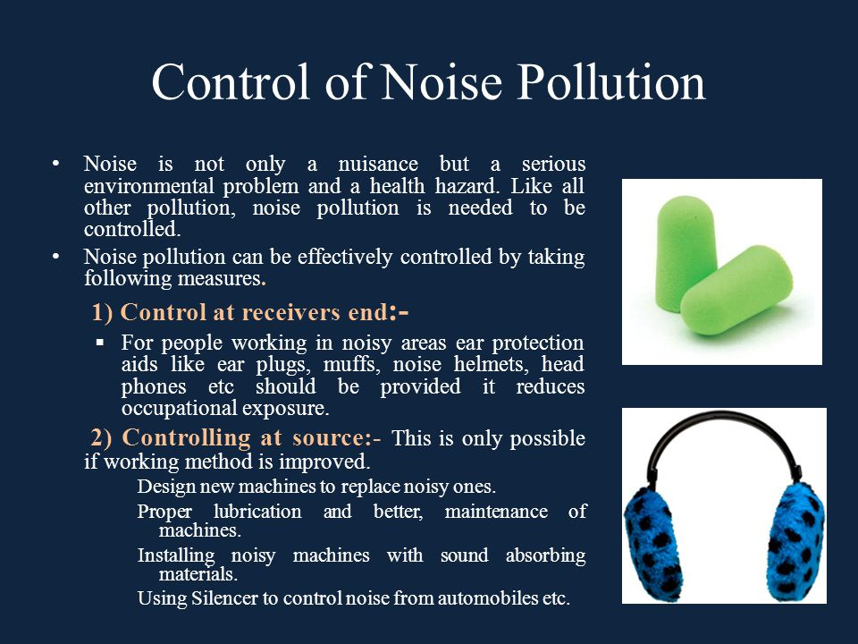 Control of Noise Pollution