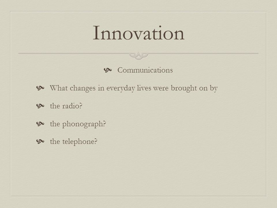 Innovation Communications