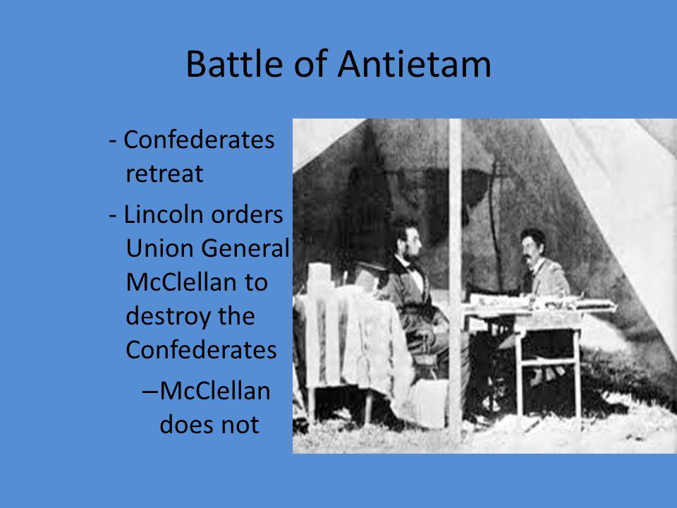 Battle of Antietam - Confederates retreat