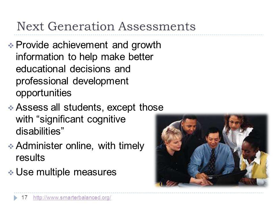 Next Generation Assessments