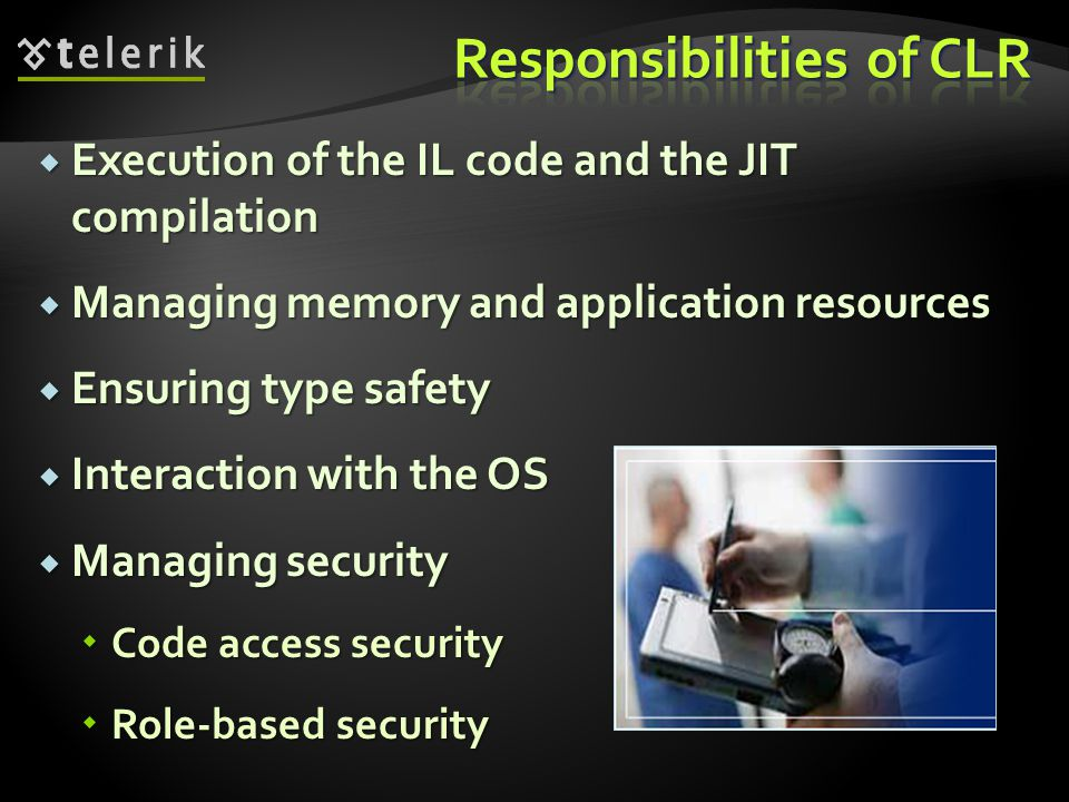 Responsibilities of CLR