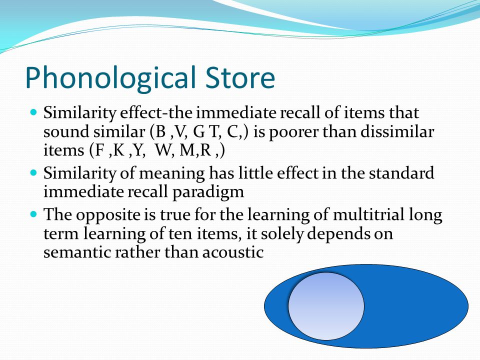Phonological Store