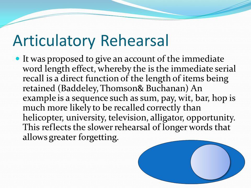 Articulatory Rehearsal