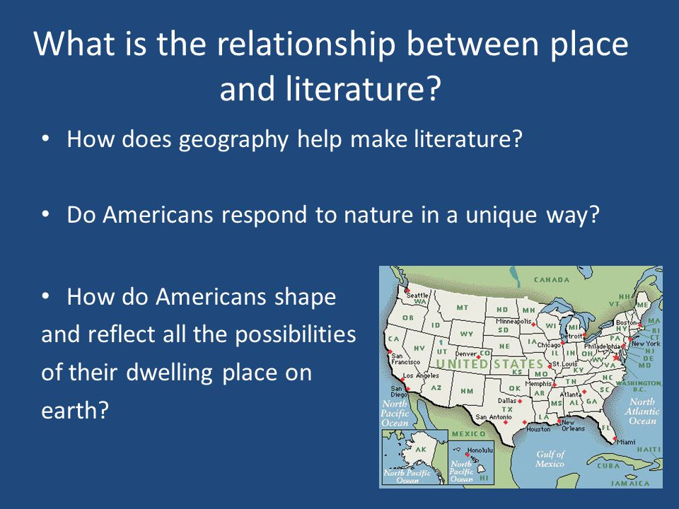 What is the relationship between place and literature