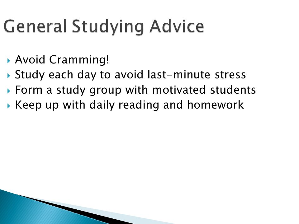 General Studying Advice