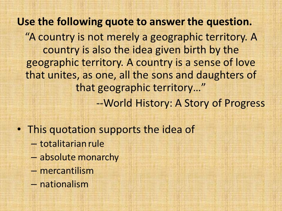 Use the following quote to answer the question.