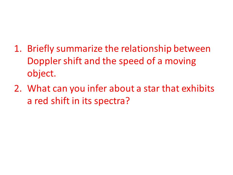 Briefly summarize the relationship between Doppler shift and the speed of a moving object.