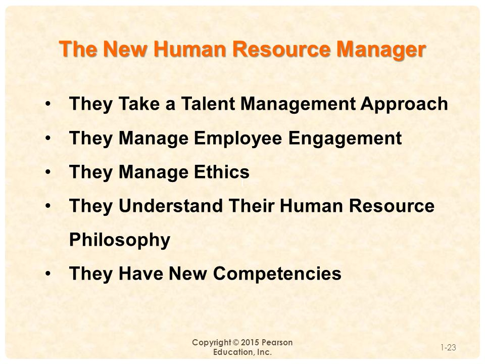 The New Human Resource Manager