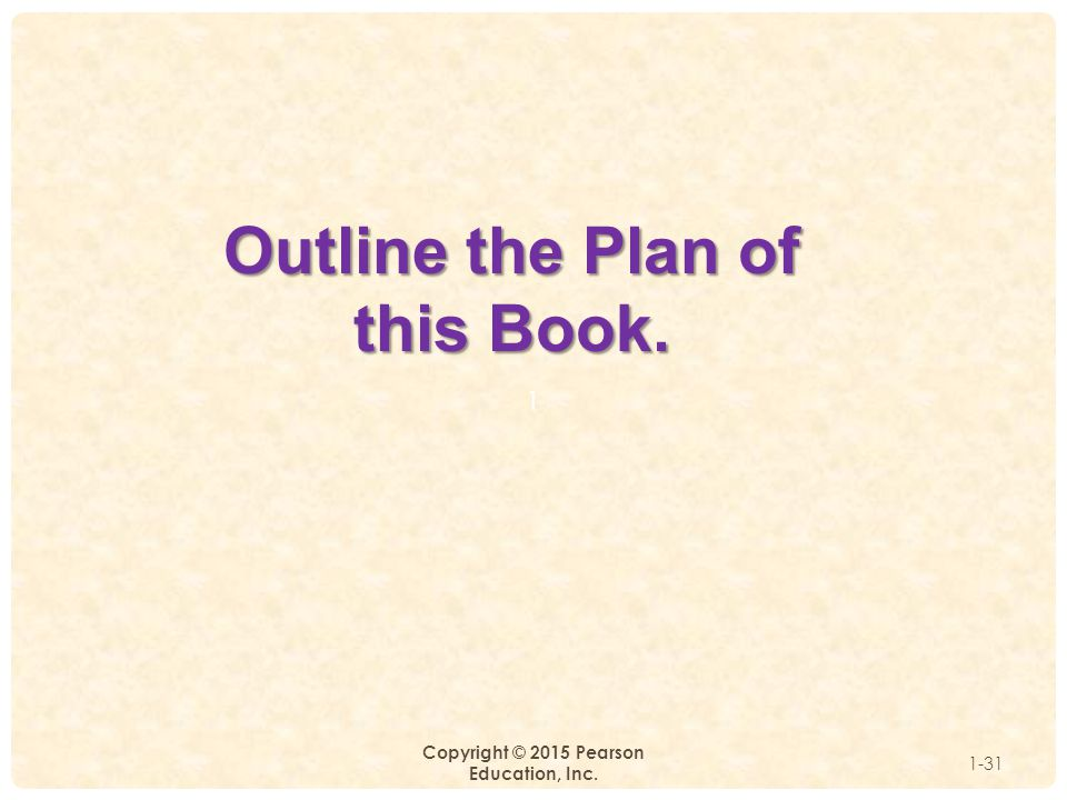 Outline the Plan of this Book.