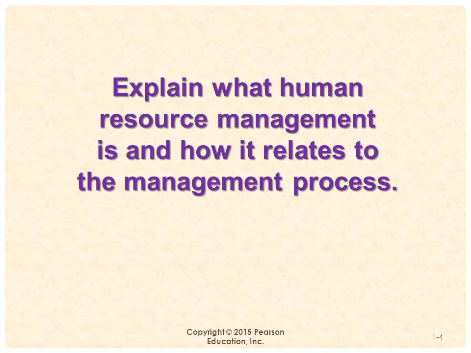 Explain what human resource management is and how it relates to