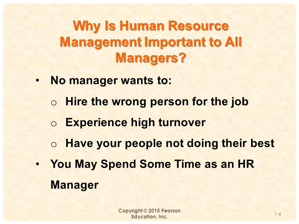 Why Is Human Resource Management Important to All Managers