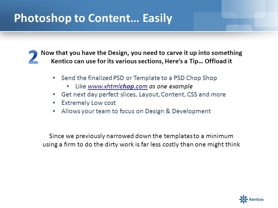 Photoshop to Content… Easily