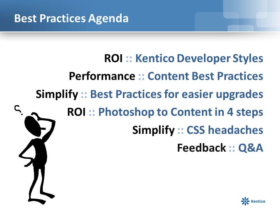 Best Practices Agenda