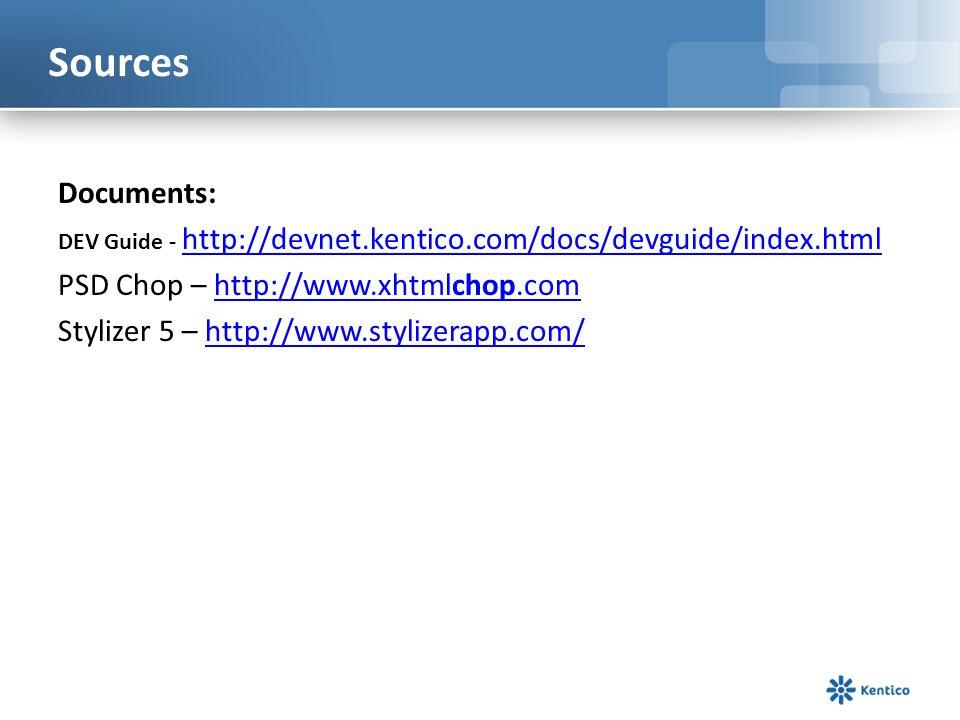 Sources Documents: PSD Chop – http://www.xhtmlchop.com