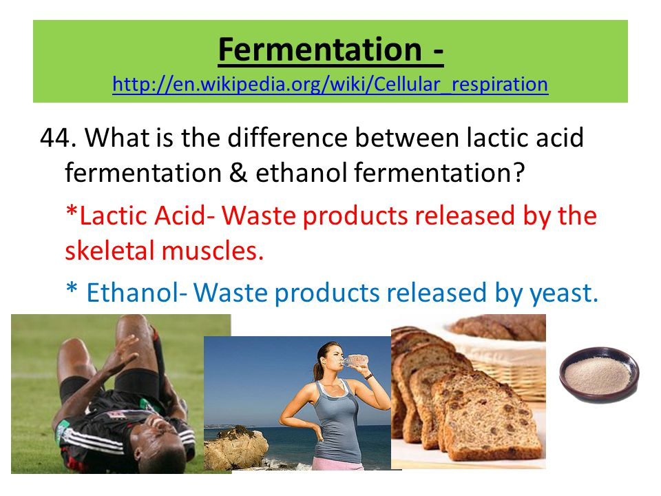 Fermentation - http://en.wikipedia.org/wiki/Cellular_respiration