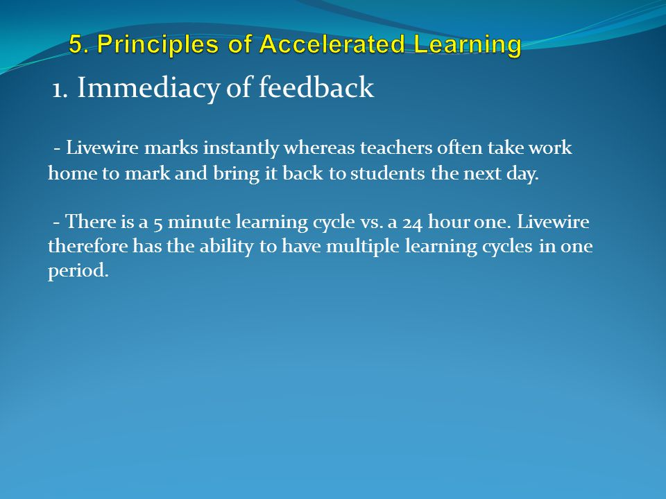 5. Principles of Accelerated Learning