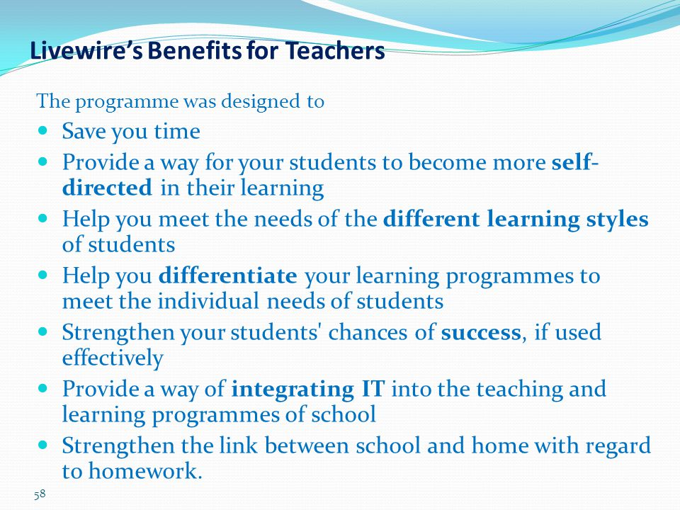 Livewire's Benefits for Teachers
