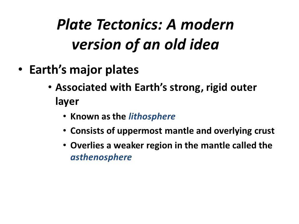Plate Tectonics: A modern version of an old idea