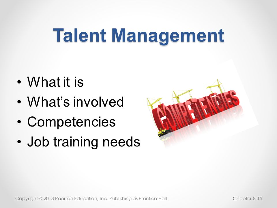 Talent Management What it is What's involved Competencies