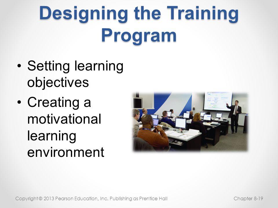 Designing the Training Program