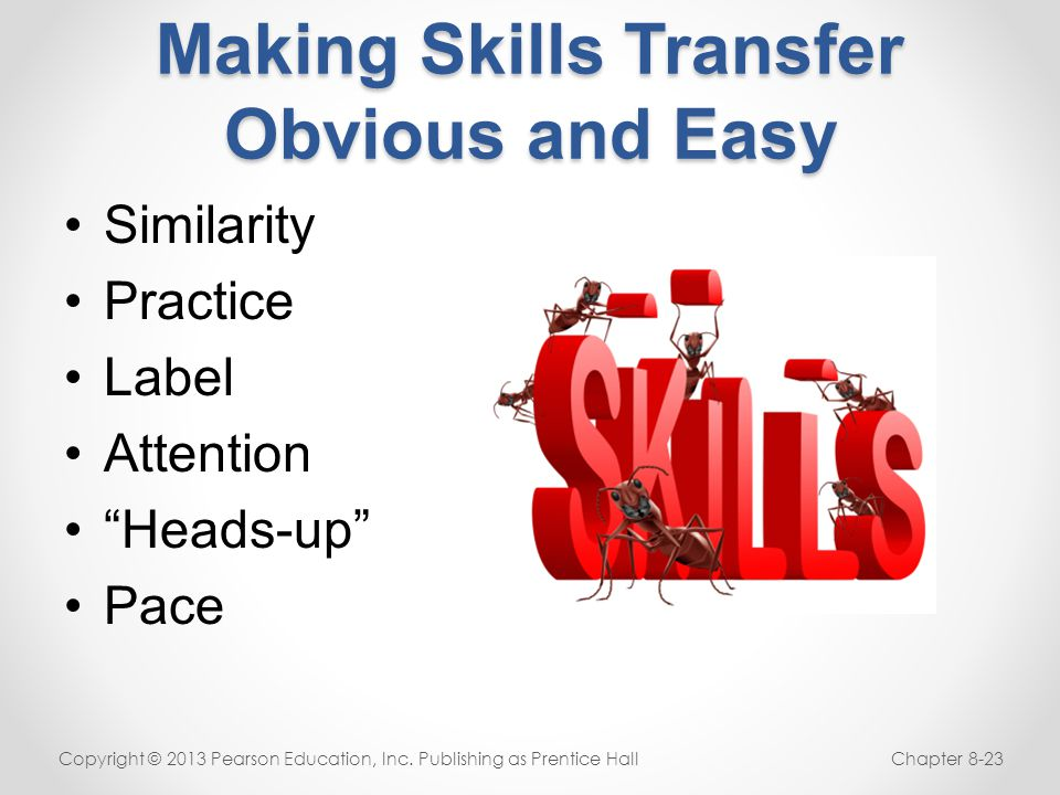 Making Skills Transfer Obvious and Easy