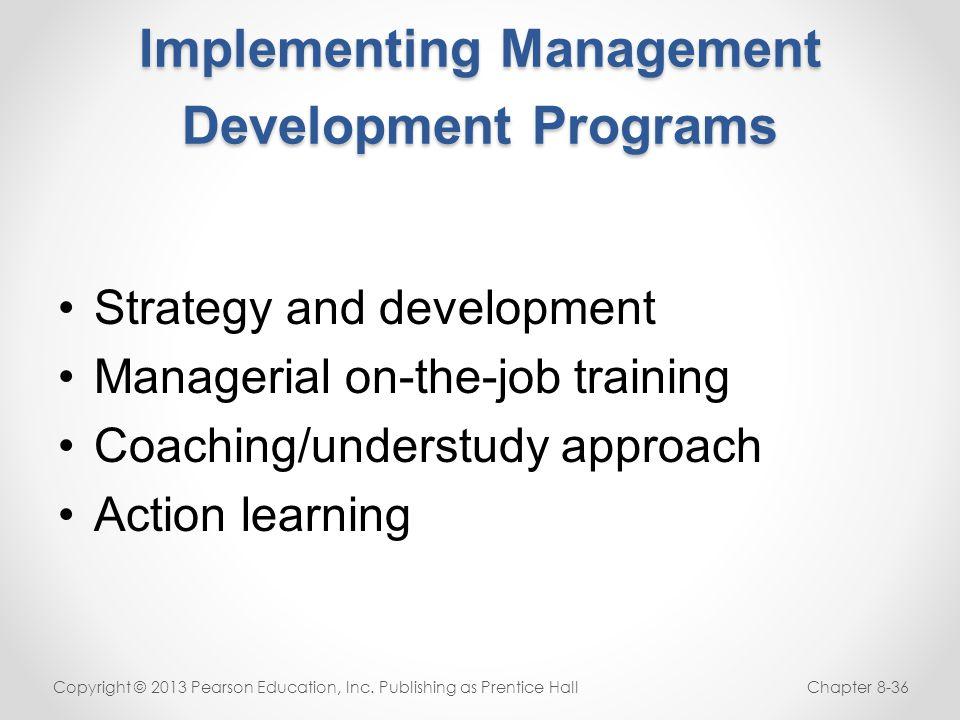 Implementing Management Development Programs