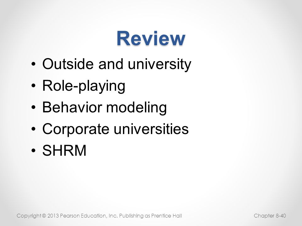 Review Outside and university Role-playing Behavior modeling