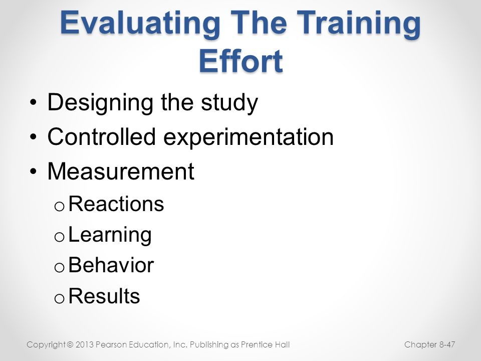 Behavior Change: The TRUE Goal of Training!