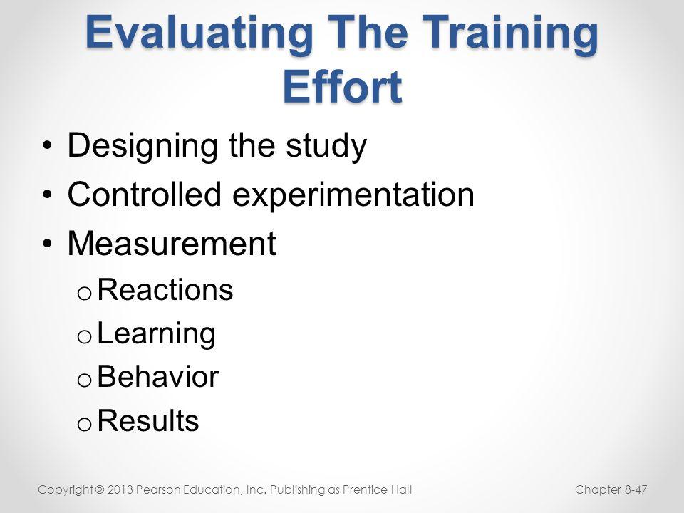 Evaluating The Training Effort