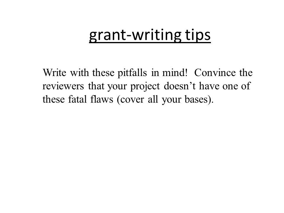 grant-writing tips