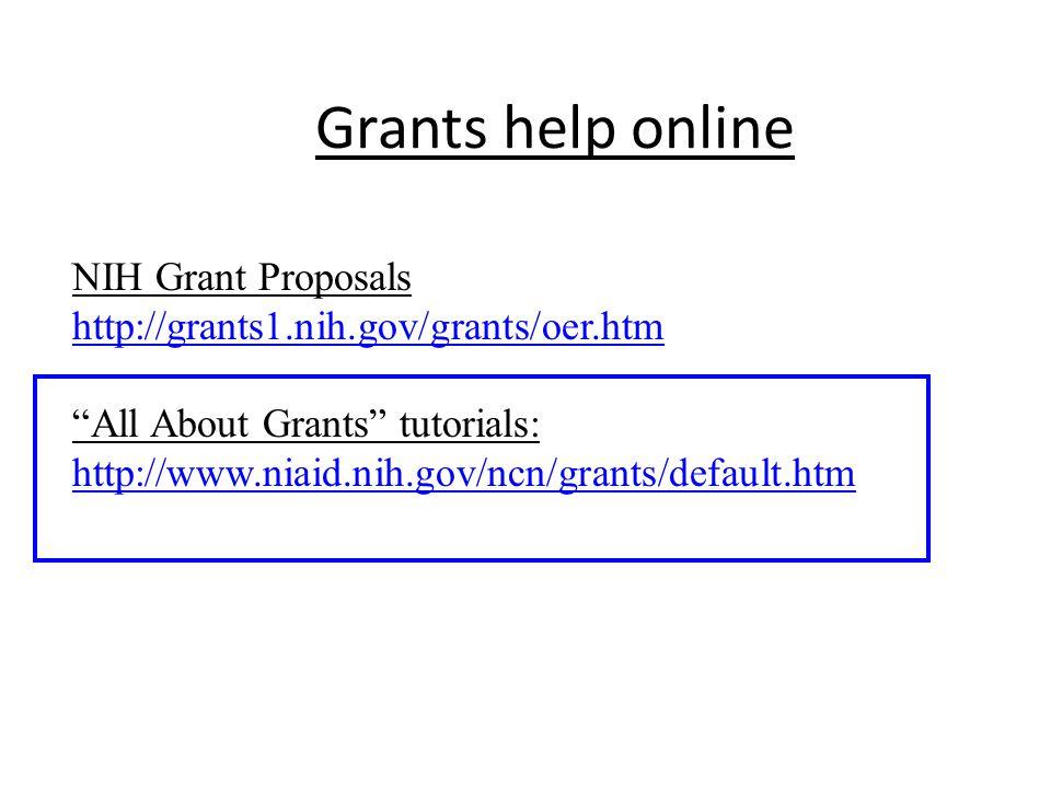 Grants help online NIH Grant Proposals