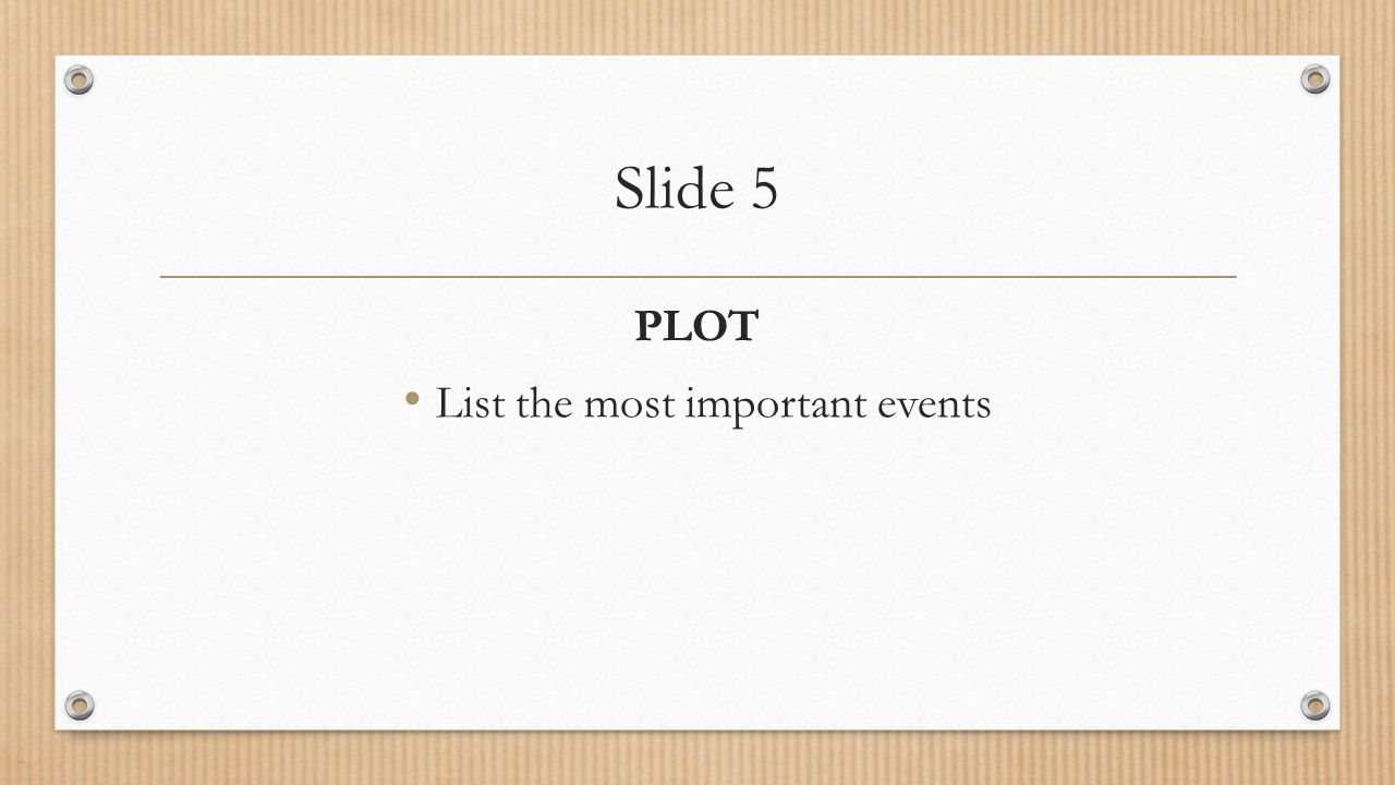 List the most important events