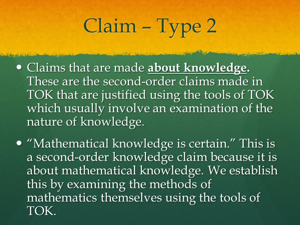 Claim – Type 2
