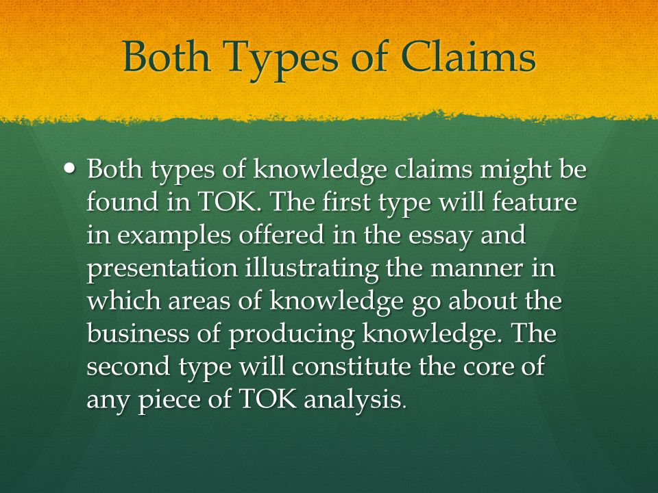 Both Types of Claims
