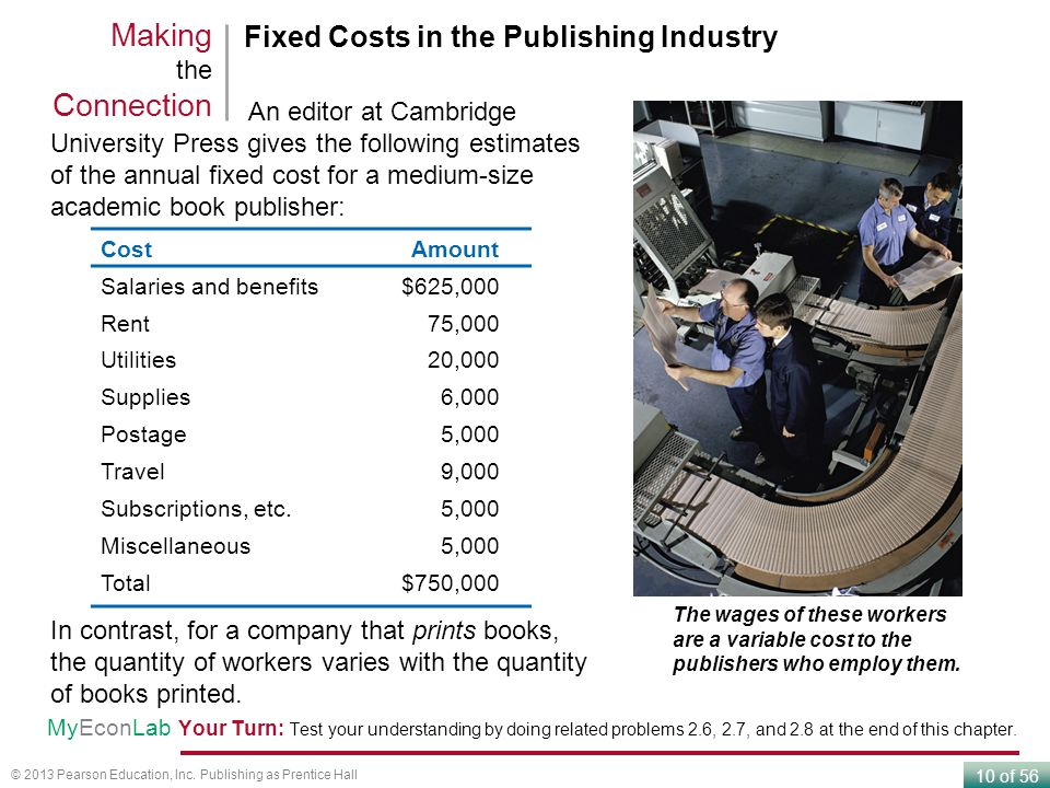 Making the Connection Fixed Costs in the Publishing Industry