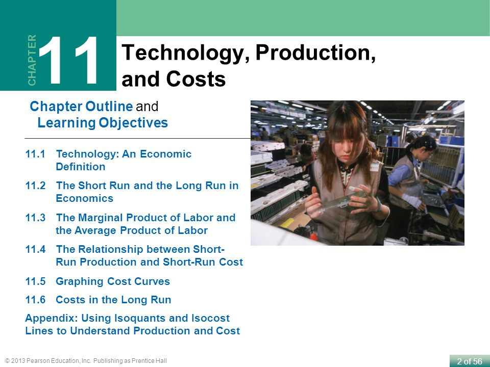 11 Technology, Production, and Costs Chapter Outline and