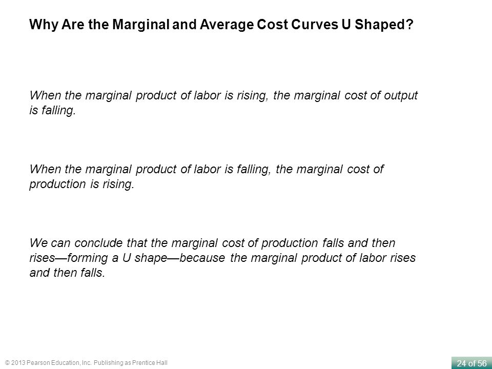 Why Are the Marginal and Average Cost Curves U Shaped